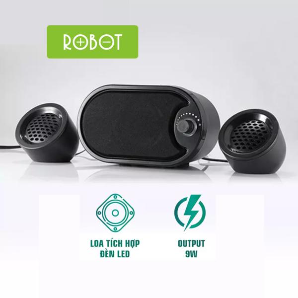 Loa vi tính ROBOT RS170 Âm thanh trung thực sống động Công suất Loa 9W  - Hàng chính hãng