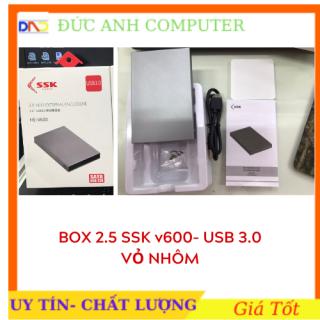 Box chuyển ổ cứng di động SSK He - V600 chuẩn 3.0 - hỗ trợ đến 5GBPS (xám) - chính hãng 100% full box thumbnail
