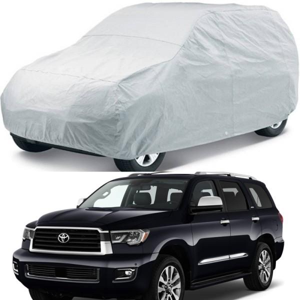 Bạt phủ xe ô tô 7 chỗ chất liệu vải phản quang cao cấp - cách nhiệt, chống thấm, chống nắng mưa, chống tia cực tím.
