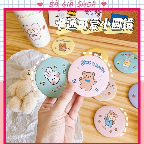 Gương tròn cầm tay mini Hàn Quốc,gương soi bỏ túi dễ thương