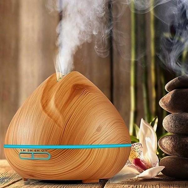 Bảng giá Máy xông và khuếch tán tinh dầu, Máy phun tinh dầu búp sen vân gỗ Điện máy Pico