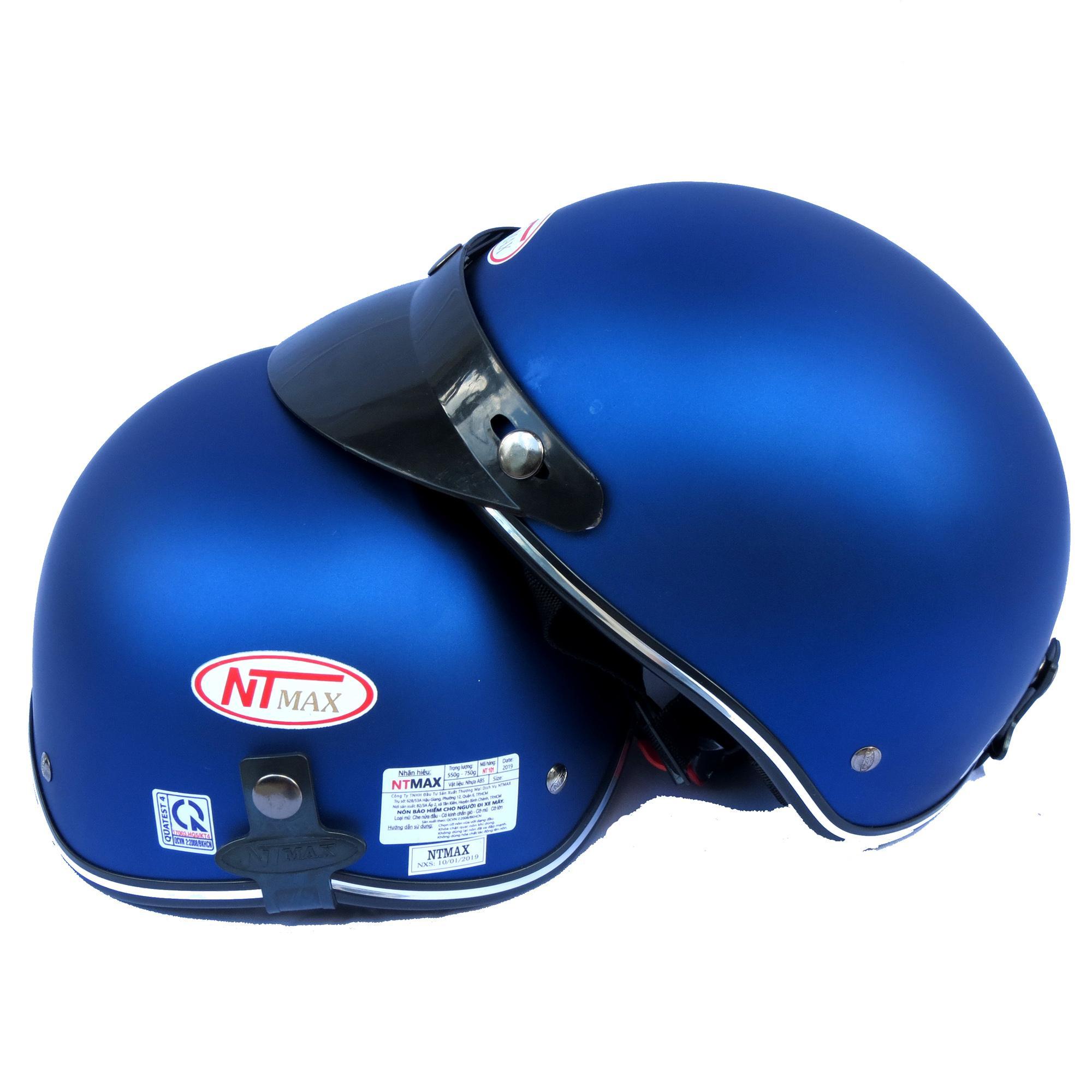 Mũ Bảo Hiểm NTMAX 1/2 Trơn Nhiều Màu Đang Trong Dịp Khuyến Mãi