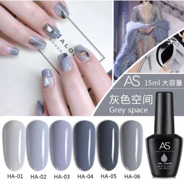 set 6 chai sơn gel AS mã Grey Space tốt nhất
