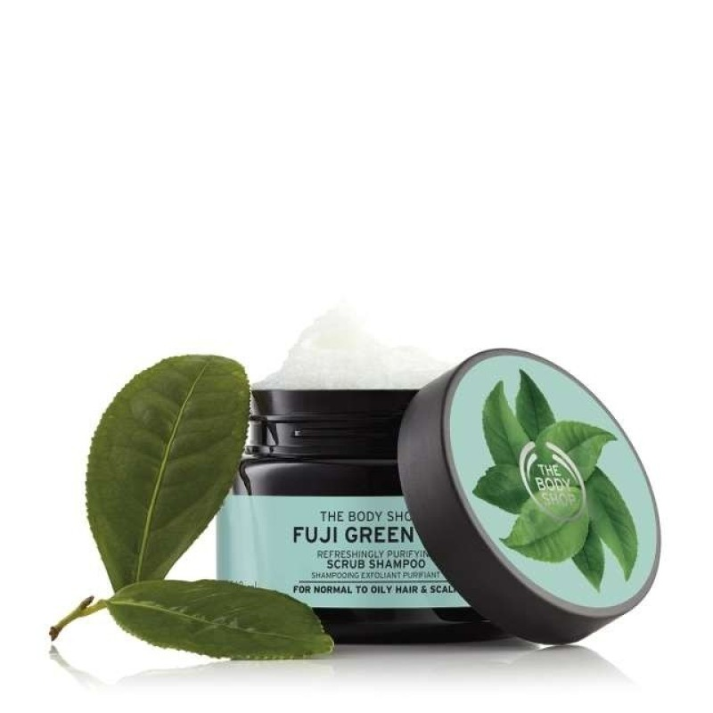 Tẩy tế bào chết cho da đầu The Body Shop Fuji Green Tea cleansing hair scrub 240ml