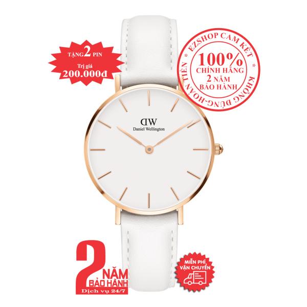 Đồng hồ nữ D.W Classic Petite Bondi Ladies Watch - 32mm- Màu vàng hồng (Rose Gold), mặt Trắng (Silver- Model: DW00100189
