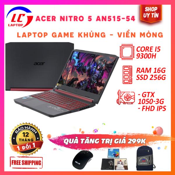 Bảng giá (FULL BOX) Laptop Giá Rẻ, Laptop Chơi Game Acer Nitro 5 An515-54, i5-9300H, RAM 8G, SSD NVMe 256G, VGA Nvidia GTX 1050-3G, Màn 15.6 FullHD IPS Sắc Nét Phong Vũ