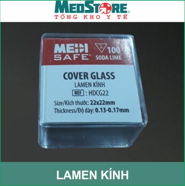 Lamen kính hiển vi 22*22mm MEDISAFE (hộp 100 chiếc) - Cover Glass 22x22mm cao cấp
