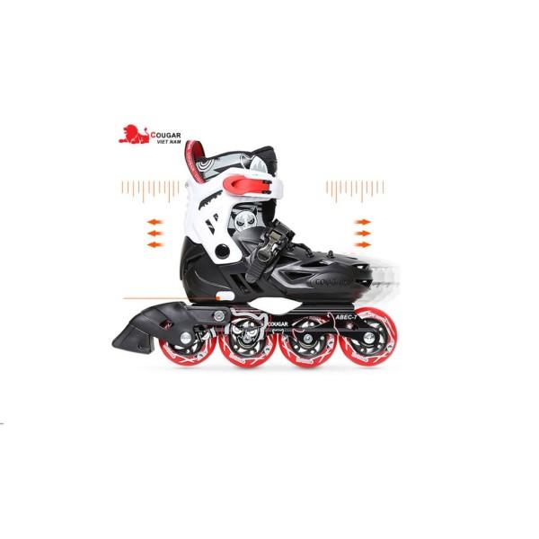 Phân phối Giầy trượt patin Cougar Pro + Bảo vệ chân, tay