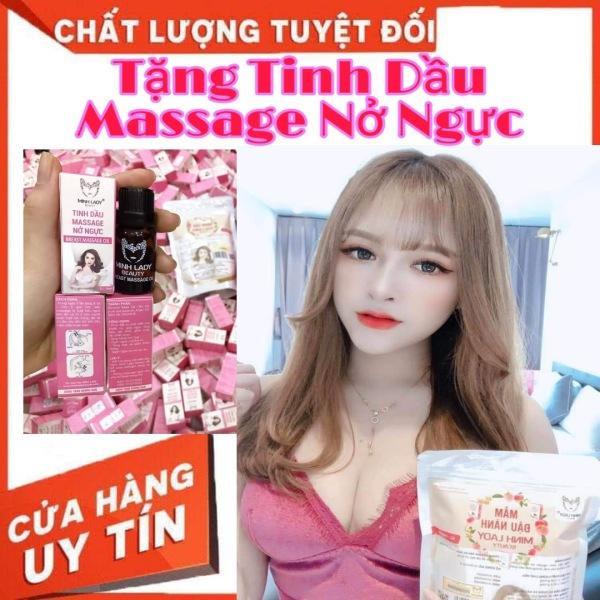 [MUA 2 TẶNG 1]Mầm đậu nành Minh lady tăng vòng 1 an toàn hiệu quả❤️Tặng tinh dầu massage nở ngực❤️ cao cấp