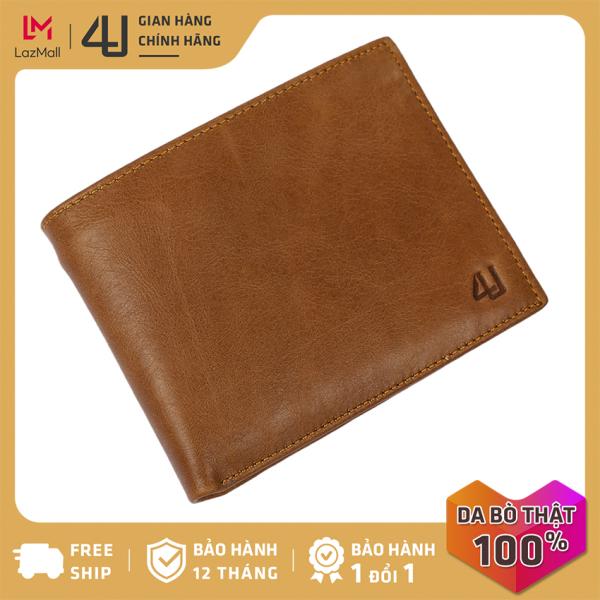 Bóp ví nam da bò thật 4U cao cấp, có nhiều ngăn đựng tiền và thẻ tiện dụng để vừa túi quần, phong cách hiện đại lịch lãm FA240
