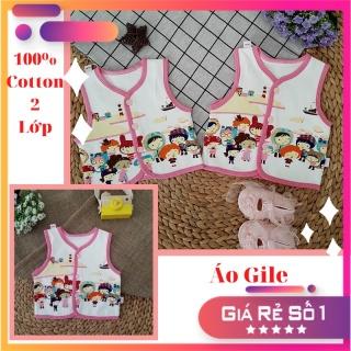 [Cotton mềm mịn] Áo Gile dành cho bé gái từ sơ sinh đến 1 tuổi thumbnail