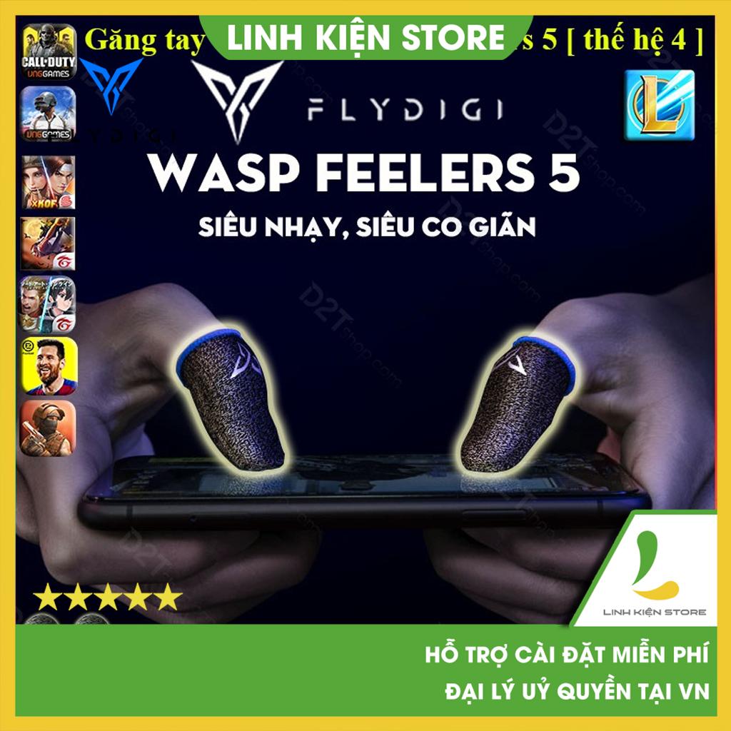 Flydigi Wasp Feelers 5   Găng tay chơi game PUBG, Liên quân, chống mồ hôi, cực nhạy, co giãn cực tốt