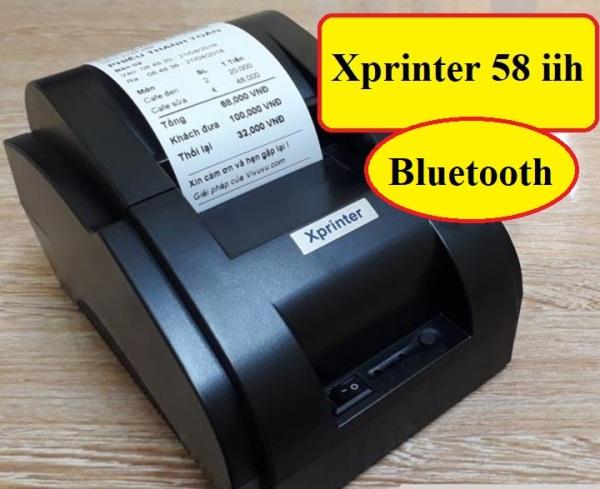 [HN]Máy in hóa đơn Xprinter K58 Bluetooth khổ 58mm Xprinter + Tặng giấy in
