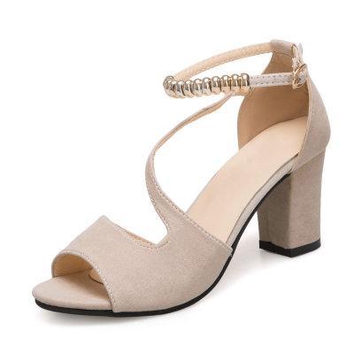 Giày nữ, Giày/Sandal cao gót 7ph bít gót quai chéo vòng cổ hột vuông thiết kế mới 2021, điệu đà, thời thời (Kèm ảnh thật)