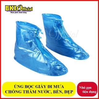 Giày đi mưa dáng bệt không ngấm nước có đế chống trơn trượt , ủng đi mưa , áo mưa bọc giày siêu bên  (GIAO MÀU NGẪU NHIÊN)