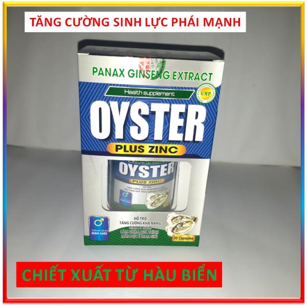 Viên Uống Cường Dương Tăng Cường Khả Năng Sinh Lý Nam   OYSTER PLUS ZINC - Với tinh chất hàu biển, maca và kẽm  khẳng định bản lĩnh phái mạnh, chấm dứt tiểu đêm, tiểu nhiều lần nhập khẩu
