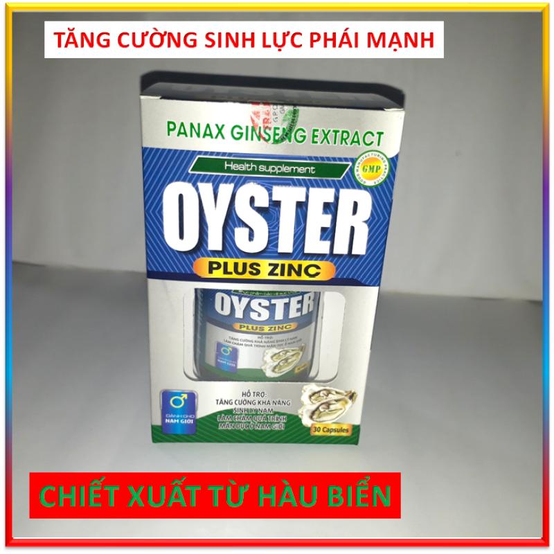 Viên Uống Cường Dương Tăng Cường Khả Năng Sinh Lý Nam   OYSTER PLUS ZINC - Với tinh chất hàu biển, maca và kẽm  khẳng định bản lĩnh phái mạnh, chấm dứt tiểu đêm, tiểu nhiều lần