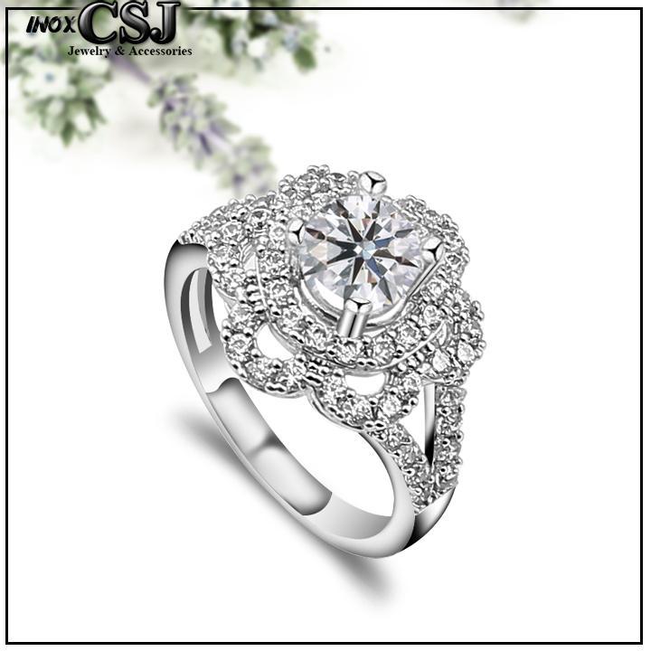 NHẪN INOX NỮ ĐÍNH XOÀN CAO CẤP siêu đẹp, siêu chất (tặng hộp đựng nhẫn cực xinh)