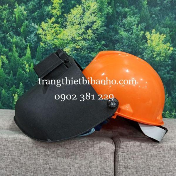 Mũ bảo hộ gắn mặt nạ hàn BB-HN.90 che mặt