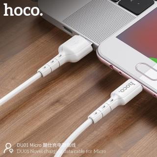 Cáp sạc Micro USB Hoco DU01 sạc nhanh 2.4A, dây dẻo chống đứt dài 100cm 5