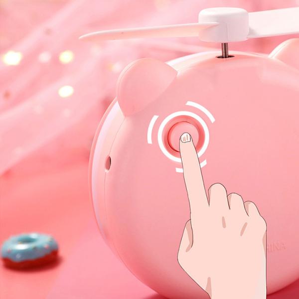 Gương Mini Cầm Tay Có Đèn Led Kèm Quạt giá rẻ
