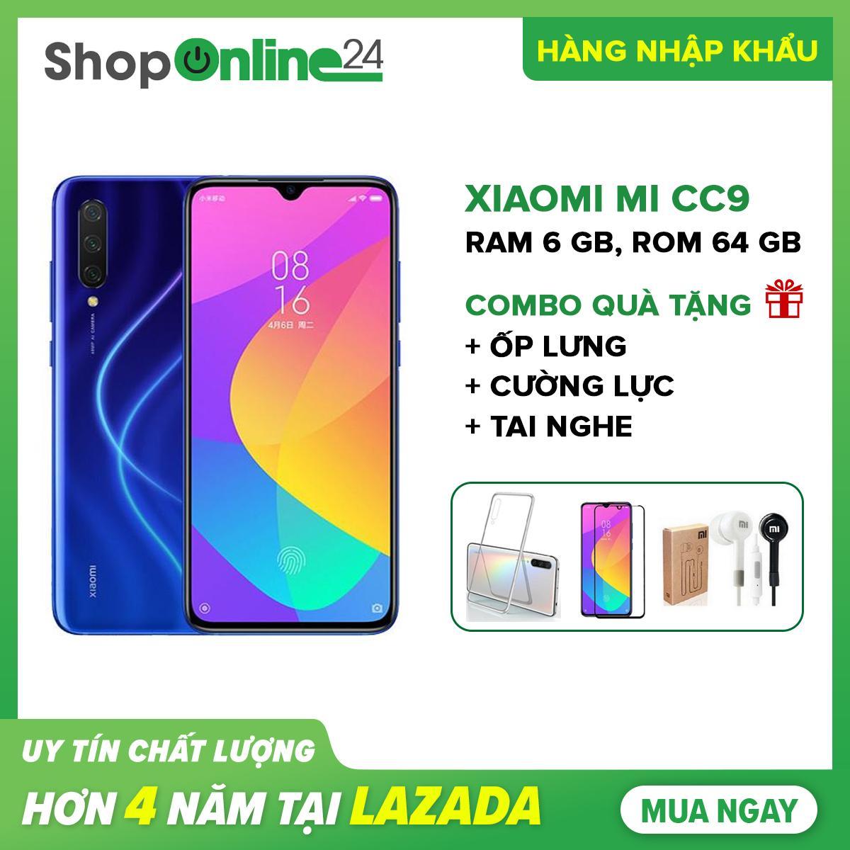 Xiaomi Mi CC9 (Mi 9 Lite) Ram 6GB 64GB + Ốp lưng + Cường lực + Tai nghe - Hàng Chính hãng