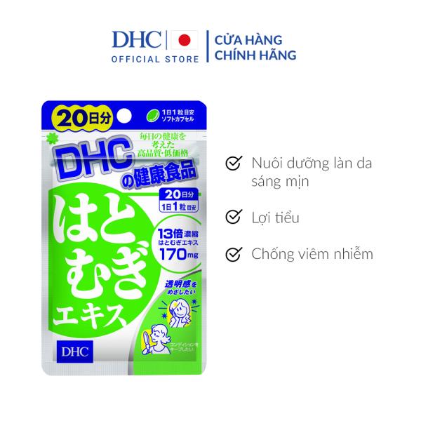 Viên uống Trắng da DHC Adlay Extract Gói 20 Ngày giá rẻ