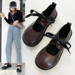 Giày Bệt Nữ Giày Đế Bằng Mary Jane Phong Cách Lolita Nhật Bản Giày Búp Bê Cho Đồng Phục JK