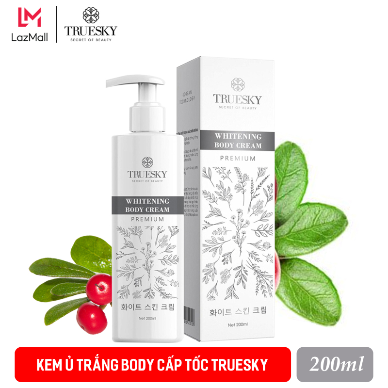 Kem ủ trắng body cấp tốc Truesky Premium phiên bản cao cấp 200ml - Whitening Body Cream