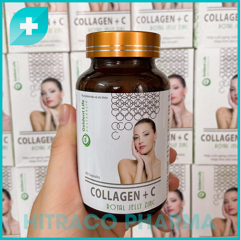 Mã Giảm Giá Viên Uống Đẹp Da Collagen Bổ Sung Vitamin A E C - Hộp 60 Viên