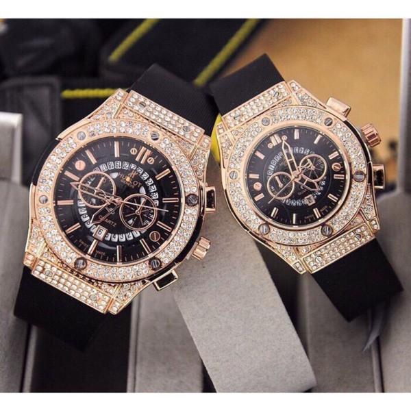 Nơi bán [Ở ĐÂU RẺ HƠN SHOP HOÀN TIỀN] Đồng hồ Hu.blot size Nam Nữ thời trang, Kính chống xước, Chống nước tốt