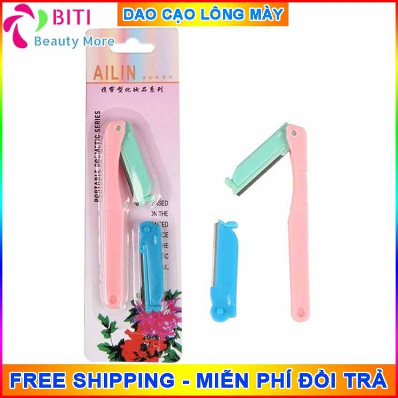 Dao cạo tỉa lông mày ALin Biti Shop lưỡi sắc và bền  giúp  bạn có cặp lông mày đẹp gọn gàng, tặng kèm lưỡi dao dự phòng - BitiShop
