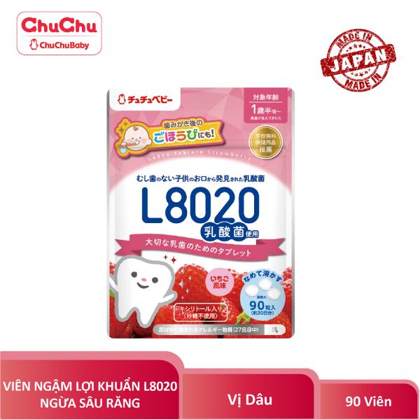Viên ngậm lợi khuẩn ngừa sâu răng L8020 Chuchu Baby vị dâu 90 viên HSD T8.2021, đa dạng sản phẩm, cam kết hàng như hình, chất lượng đảm bảo, an toàn giá rẻ