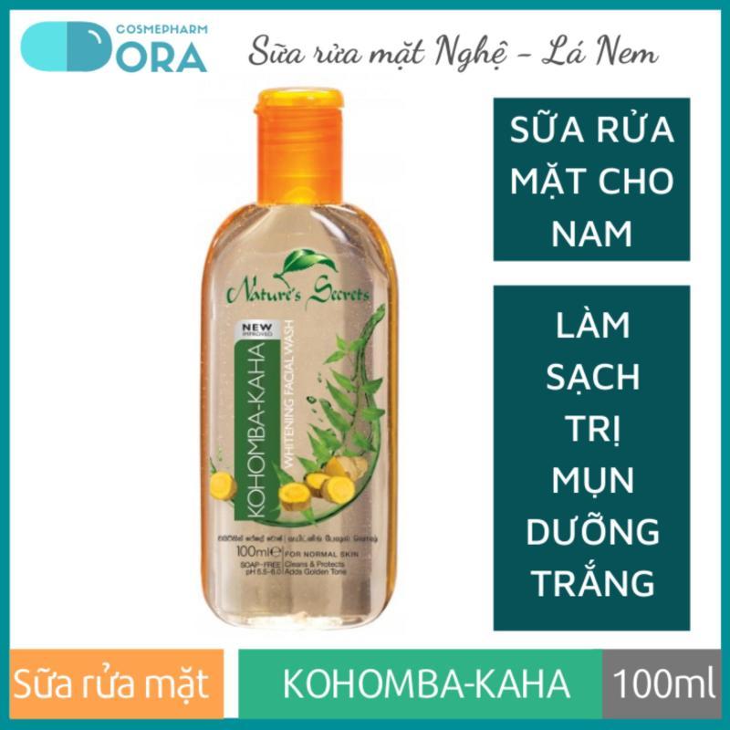 Sữa rửa mặt nam trắng da giảm mụn Kohomba - Kaha Extract Facial Cleansing Gel 100ml