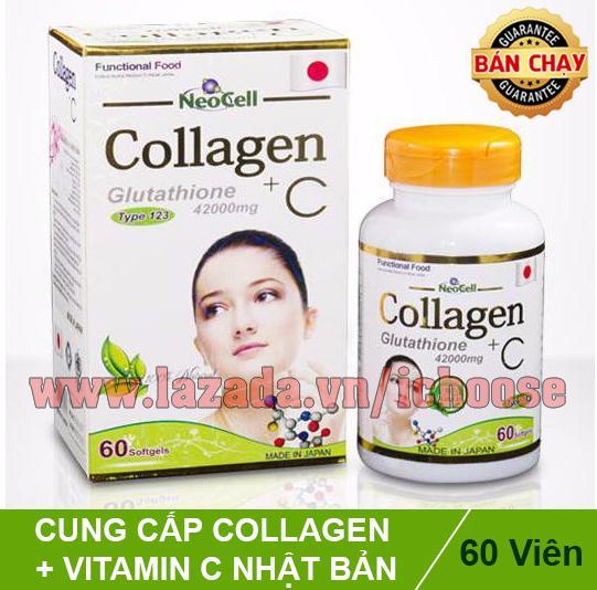 Viên uống dưỡng da chống lão hóa Neocell Collagen +C 42000mg (Collagen +C)