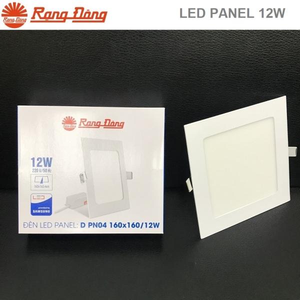 Đèn led panel âm trần 12W Rạng Đông vuông