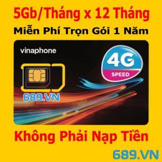 Sim 4G Vinaphone trọn gói 1 năm không nạp tiền d500 có 5GBtháng x 12 tháng thumbnail