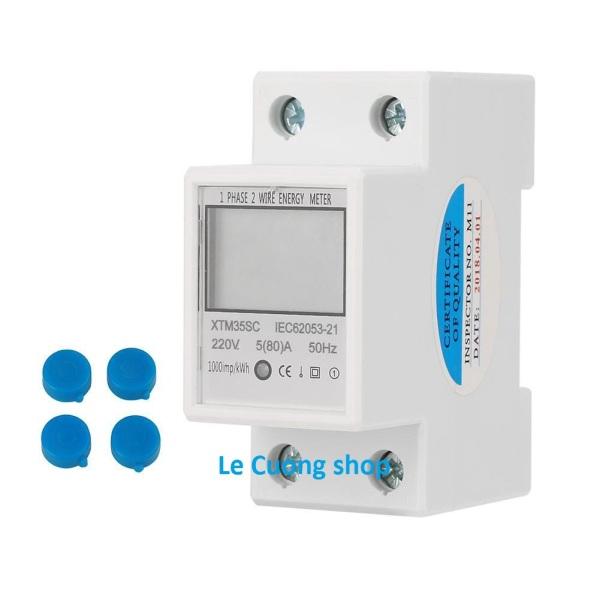 Bảng giá Công tơ điện tử 220V-80A 4 thông số đo công suất tiêu thụ Kwh, điện áp U, cường độ dòng điện I,công suất tải P .Thiết bị đo công suất