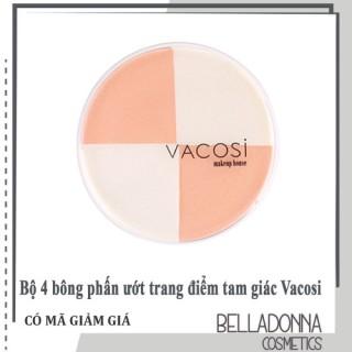 Bộ 4 bông phấn ướt trang điểm tam giác Vacosi collection Pro-makeup - BP13 thumbnail