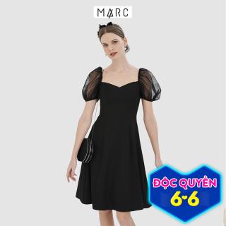 Đầm nữ MARC FASHION midi tay phối lưới thumbnail