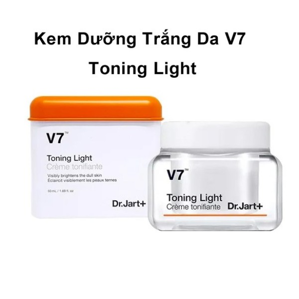 [Hàng Chính Hãng]Kem Dưỡng Trắng Da V7 Toning Light Dr.Jart 50Ml - fullsize giá rẻ