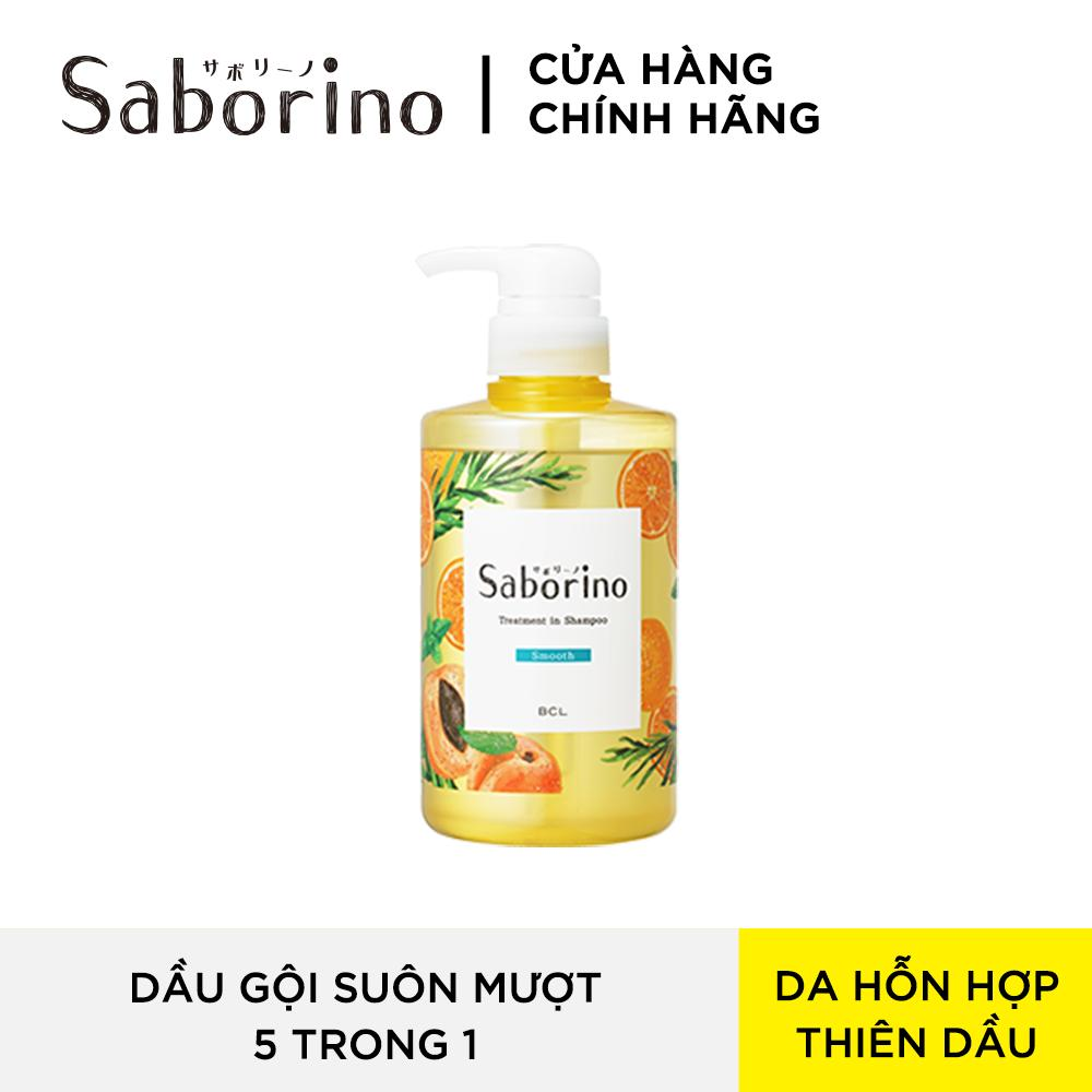 Dầu Gội Đầu 5 Trong 1 Saborino Treatment In Shampoo Smooth (460ml) giá rẻ