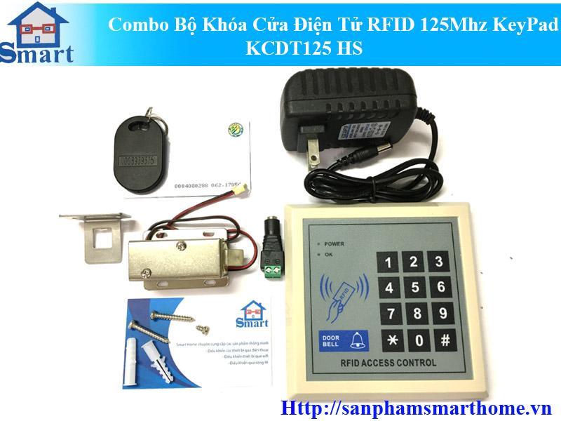 Combo Bộ Khóa Cửa Điện Tử RFID 125Mhz KeyPad KCDT125