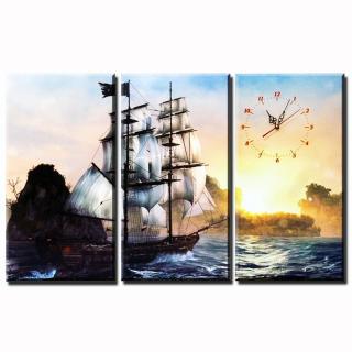 Tranh treo tường - Thuận buồm xuôi gió 02 - Tranh Minh Hiền ( 3 TRANH GHÉP) thumbnail