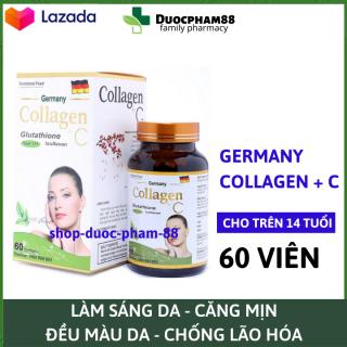 Viên uống đẹp da Collagen +C giảm thâm nám tàn nhang, ngừa nếp nhăn, chống lão hóa - Hộp 60 viên - HSD 2024 thumbnail