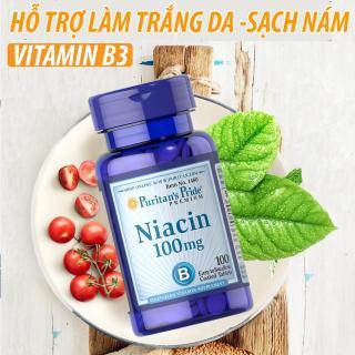 Viên uống bổ sung Vitamin B3 PP giảm mụn viêm hỗ trợ ngăn ngừa nhiệt miệng, viêm da, chống lão hóa Puritan s Pride Niacin 100mg 100 viên. thumbnail