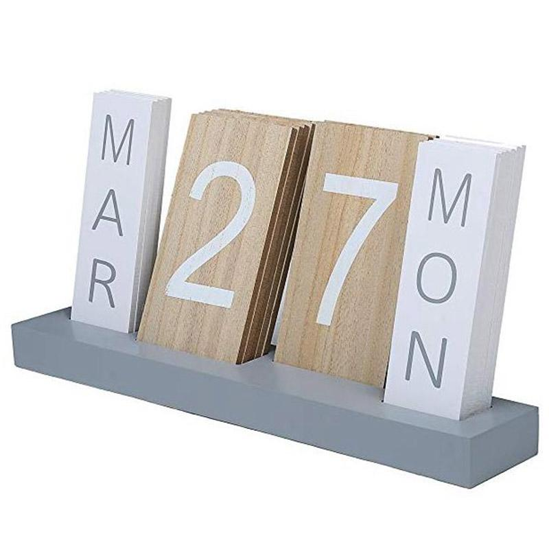 Mua Wooden Calendar Desktop Display Perpetual Calendar Living Room Bedroom Home Decoration