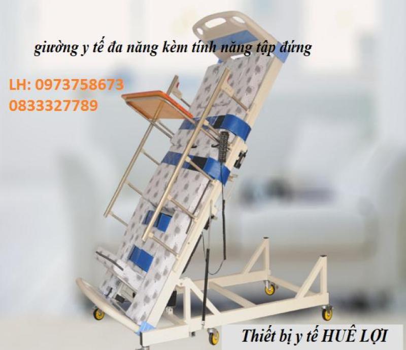 Giường y tế đa năng kèm tính năng tập đứng cho người bệnh - giường y tế