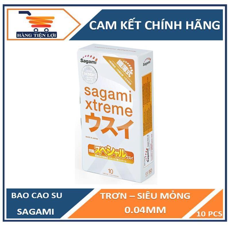 [ NHẬP MÃ   HTL2019  GIẢM NGAY 10% ] Bao cao su Siêu mỏng Cao cấp Sagami Xtreme Super Thin 10 bao nhập khẩu
