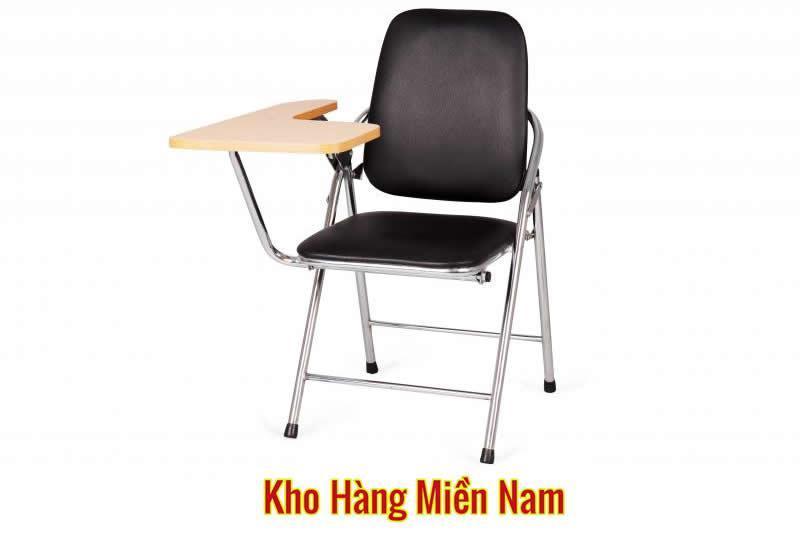 Ghế xếp liền bàn - Ghế gấp liền bàn INOX Xuân Hòa GI 05-00B MÀU ĐEN giá rẻ